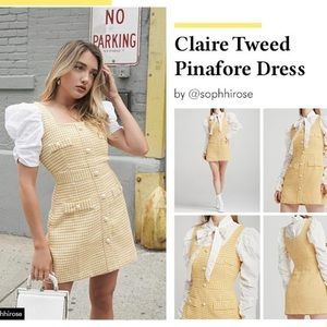 DO NOT BUY!! Claire tweed pinafore dress